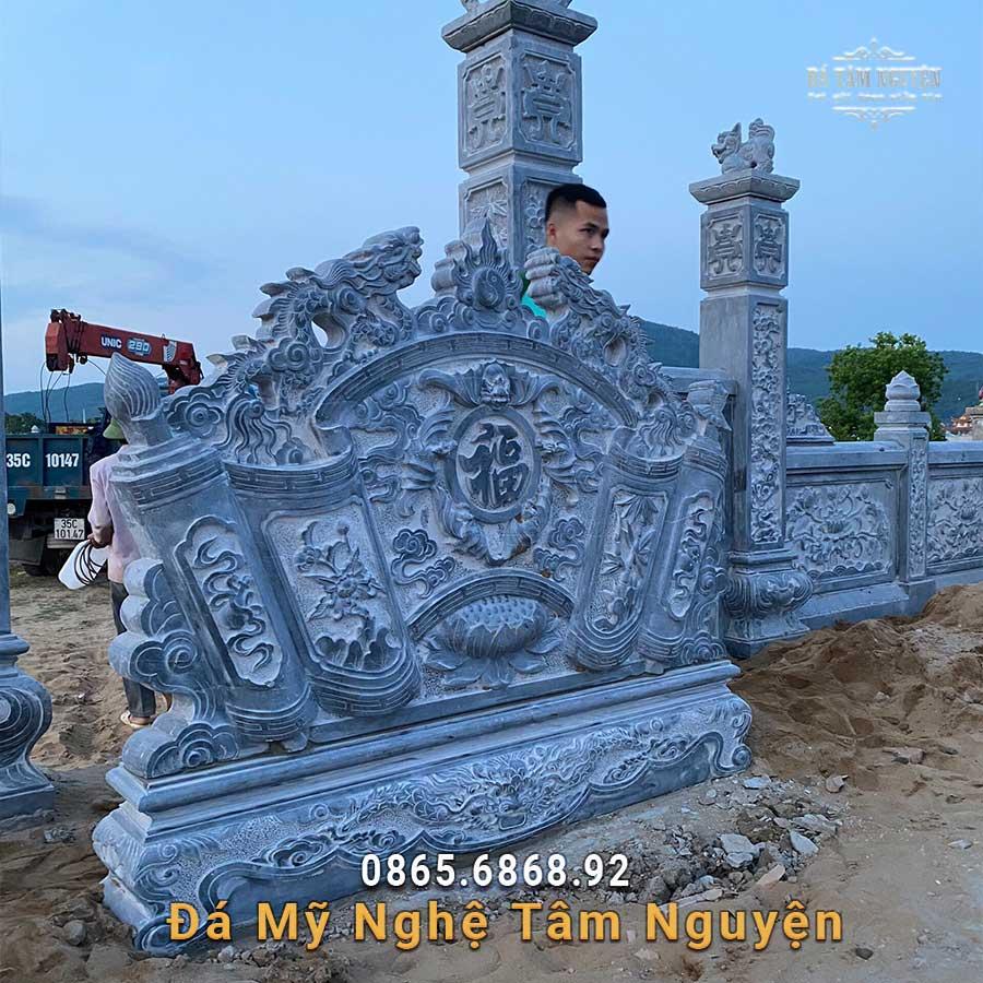 Cuốn thư đá xanh đen ở Hà Tĩnh