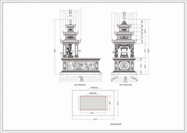 Bản card thiết kế khu mộ đá